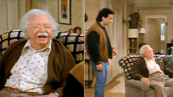 Bill Erwin, who played an elderly man named Sid Fields on 'Seinfeld' in the 1990s, died on Dec. 29, 2010 at age 96. (Pictured: Bill Erwin in a scene from the 'Seinfeld' episode, 'The Old Man,' which aired in 1993.)