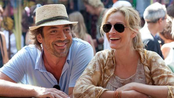 Javier Bardem and Julia Roberts appear in a scene from the 2010 movie Eat Pray Love. - Provided courtesy of Francois Duhamel / Columbia TriStar Marketing Group, Inc