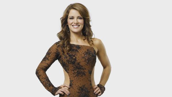 Rebecca Budig appears in a promotional photo for the 2010 show, 'Skating With the Stars.'