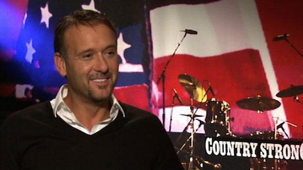 Tim McGraw speaks to OnTheRedCarpet.com in December 2010 about his new film with Gwyneth Paltrow, Country Strong, as well as his decision to quit drinking, partially spurred by his drunk texts to wife Faith Hill years ago. - Provided courtesy of OTRC