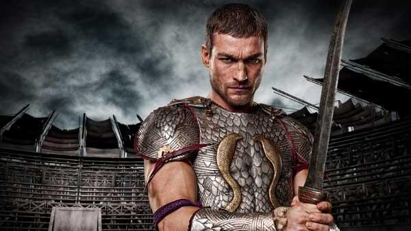 Andy Whitfield as Spartacus in a 2009 production still from Spartacus: Blood and Sand. - Provided courtesy of Starz Entertainment