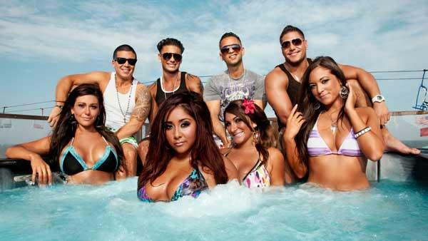 Jenni JWoww Farley, Michael The Situation Sorrentino, Nicole Snooki Polizzi, Paul Pauly D DelVecchio, Ronnie Ortiz-Magro, Sammi Sweetheart Giancola, Deena Nicole Cortese, and Vinny Guadagnino. - Provided courtesy of MTV