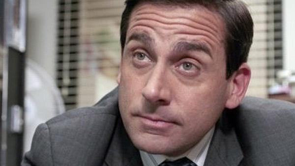 Steve Carell appears in a scene from the NBC series The Office. - Provided courtesy of Chris Haston / NBC