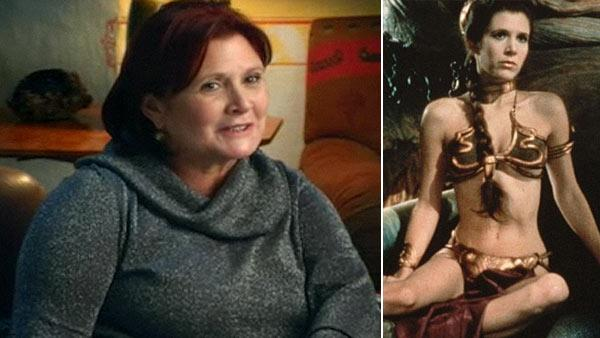 Carrie Fisher appears in a video posted on the Jenny Craig website in 2011. / Carrie Fisher appears in a scene from the 1983 movie Star Wars: Episode VI - Return of the Jedi. - Provided courtesy of Jenny Craig / Lucasfilm