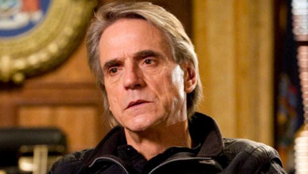 Jeremy Irons appears in a scene from Law and Order: Special Victims Unit on an episode airing on Wednesday, Jan. 12, 2011.