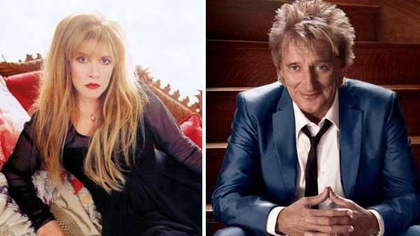 Rod Stewart and Stevie Nicks in promotional photos from their official websites. - Provided courtesy of Photo courtesy of Rod Stewarts official website/Photo courtesy of Stevie Nicks official website