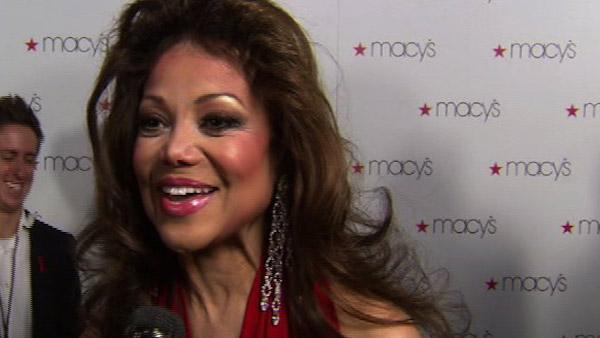 La Toya Jackson speaks to OnTheRedCarpet.com at the Macy's Passport Glamorama event in Los Angeles on Sept. 16, 2010.