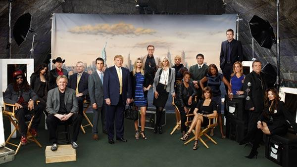 The cast of 'Celebrity Apprentice's 2011 installment appear in a promotional photo.