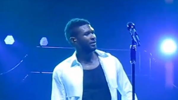 Usher appears ill at a concert in Berlins O2 Arena on January 13, 2011. - Provided courtesy of youtube.com/user/onlyoneberlin