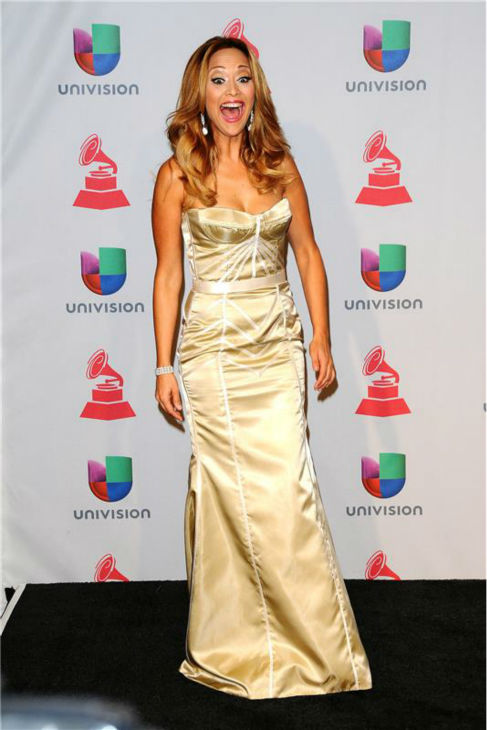 Veronica Bastos arrives at the 2013 Latin Grammy Awards at the Mandalay Bay Hotel and Casino in Las Vegas on Nov. 21, 2013.