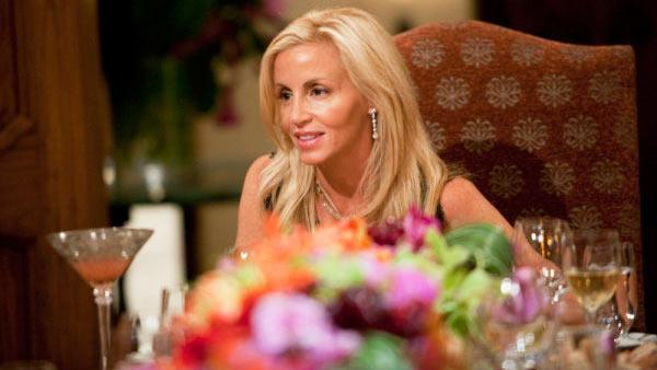 Camille Grammer in a still from the episode Dinner at Camille Grammers of The Real Housewives of Beverly Hills. - Provided courtesy of Isabella Vosmikova/Bravo