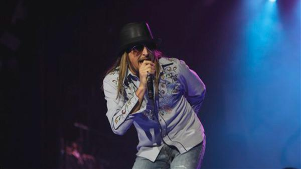 Kid Rock performs at Ford Field in Detroit, Saturday, Jan. 15, 2011. - Provided courtesy of AP / Carlos Osorio