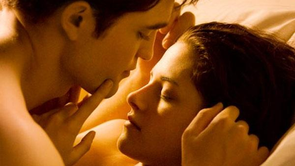 An official still of Robert Pattinson and Kristen Stewart as Edward Cullen and Bella Swan in the 2011 film The Twilight Saga: Breaking Dawn Part 1. - Provided courtesy of Summit Entertainment