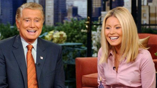 Regis Philbin and Kelly Ripa appear in a promotional photo for LIVE! With Regis and Kelly. - Provided courtesy of ABC