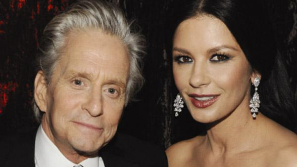 Actor Michael Douglas (L) and wife actress Catherine Zeta-Jones attend Relativity Media and The Weinstein Companys 2011 Golden Globe Awards After Party at The Beverly Hilton hotel on January 16, 2011 in Beverly Hills, California. - Provided courtesy of Frazer Harrison / Getty Images for Relativity Media / Royalty free