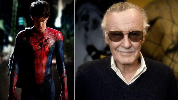 Left: Andrew Garfield appears as Spider-Man in a photo released by Columbia Pictures on Jan. 13, 2011. Right: Stan Lee in an undated photo from his official Twitter profile. - Provided courtesy of Columbia Pictures / John Schwartzman / Twitter.com/therealstanlee