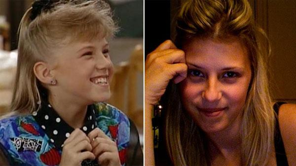 Jodie Sweetin appears in a scene from 'Full House.' / Jodie Sweetin appears in a 2010 photo on her Twitter page.
