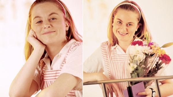A woman who appears to be Amy Poehler appears in an undated Comstock Images photo titled Portrait of candy striper. - Provided courtesy of Comstock Images / Royalty-free