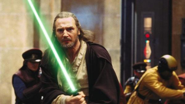 Liam Neeson as Qui-Gon Jinn in a scene from the 1999 film Star Wars: Episode I - The Phantom Menace. - Provided courtesy of Lucasfilm