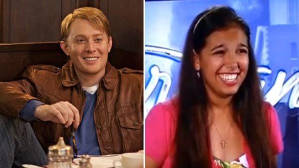 Clay Aiken appears in a 2010 photo posted on his Twitter page. / Victoria Huggins appears in a scene from American Idol in an episode that aired on Jan. 19, 2011. - Provided courtesy of twitter.com/clayaiken / FOX / FremantleMedia / 19 Entertainment