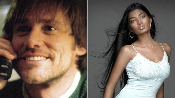Jim Carrey and former 'America's Next Top Model' contestant Anchal Joseph ...