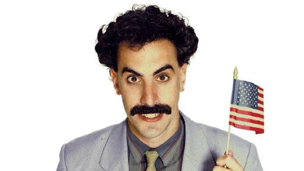 Sacha Baron Cohen appears in a promotional photo for the 2006 movie Borat: Cultural Learnings of America for Make Benefit Glorious Nation of Kazakhstan. - Provided courtesy of 20th Century Fox
