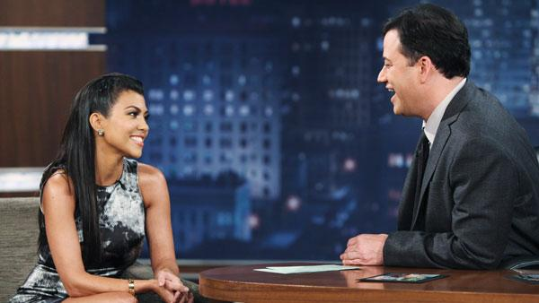 Kourtney Kardashian appears on a January 20, 2011 episode of Jimmy Kimmel Live - Provided courtesy of ABC / Adam Larkey