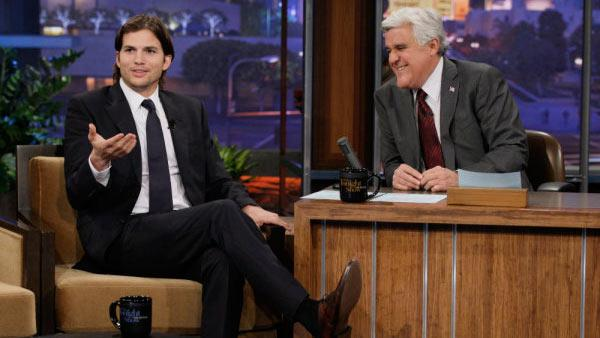 Ashton Kutcher appears on The Tonight Show on January 18, 2011. - Provided courtesy of NBC