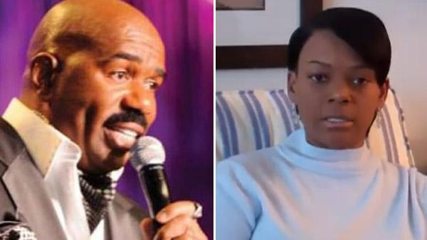 Steve Harvey appears in a 2010 photo posted on his Twitter page. / Mary Harvey appears in a YouTube video posted on her YouTube account on Jan. 23, 2011. - Provided courtesy of twitter.com/iamsteveharvey / youtube.com/user/SuperMaryharvey