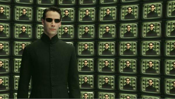 Keanu Reeves as Neo in a scene from the 2003 film The Matrix Reloaded. - Provided courtesy of Village Roadshow Films
