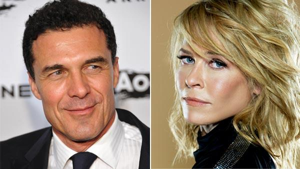 Left: Andre Balazs attends the 2010 Whitney Museum of American Art gala and studio party on Tuesday, Oct. 26, 2010 in New York. Right: Chelsea Handler in her official Twitter photo.