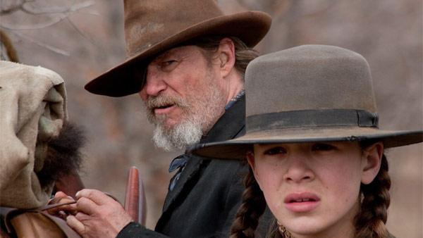 The Western 'True Grit' received 10 Oscar nominations for the 2011 Academy Awards. (Pictured: Jeff Bridges as Rooster Cogburn, the man Hailee Steinfeld's character, Mattie Ross, hires to kill the man who murdered her father.)
