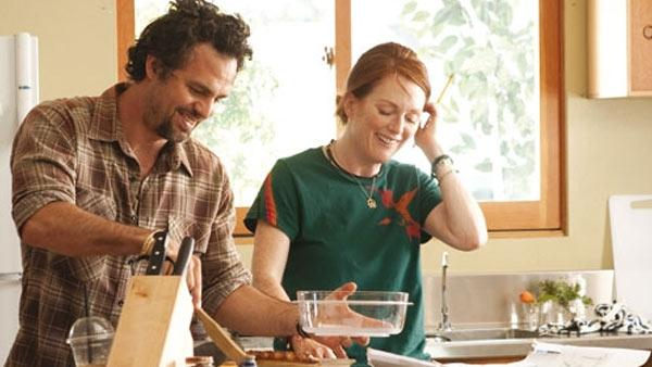 Mark Ruffalo and Julianne Moore appear in a scene from the 2010 movie 'The Kids Are All Right.'