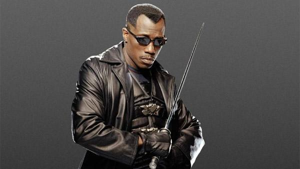 Wesley Snipes appears in a promotional photo for 'Blade: Trinity'.