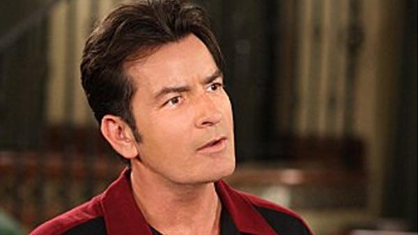 Actor Charlie Sheen is shown in the show, Two and a Half Men. - Provided courtesy of CBS