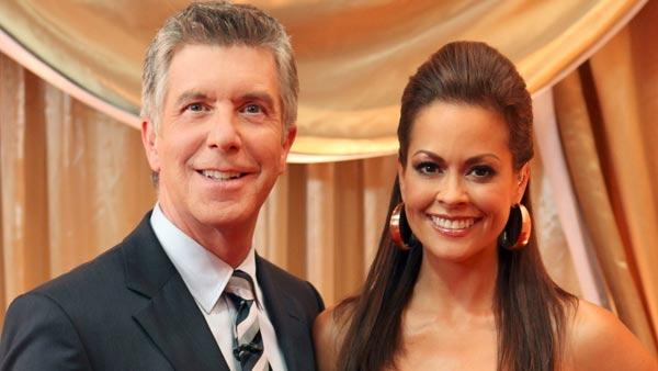 Brooke Burke and Tom Bergeron pose in a promotional still for the Spring 2010 season of Dancing with the Stars. - Provided courtesy of KABC / ABC/BOB DAMICO