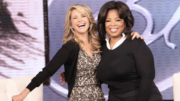 Christie Brinkley and Oprah Winfrey in a still from The Oprah Winfrey Show. - Provided courtesy of Photo courtesy of Harpo