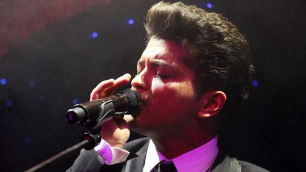 Bruno Mars performing at the Cafe De Paris in London on January 11, 2011. - Provided courtesy of Bruno Mars official website, brunomars.com.