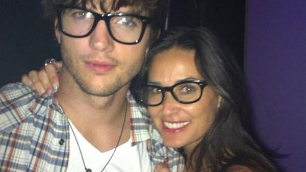 Ashton Kutcher and Demi Moore in an undated picture from Moores official Twitter. - Provided courtesy of Demi Moores official Twitter page, twitter.com/mrskutcher