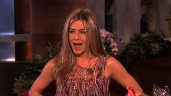 Jennifer Aniston appears on the Februady 3, 2011 episode of The Ellen DeGeneres show. - Provided courtesy of Warner Bros. Television