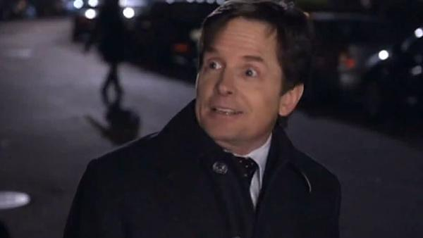Michael J. Fox appears in a scene from the CBS series The Good Wife. - Provided courtesy of CBS