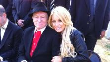 Hugh Hefner, left, and Crystal Harris in a Twitter photo taken in 2010. - Provided courtesy of Twitter.com/crystalharris
