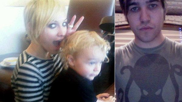 Ashlee Simpson-Wentz and son Bronx appear in this Oct. 12, 2010 photo posted on husband Pete Wentz's Twitter page.