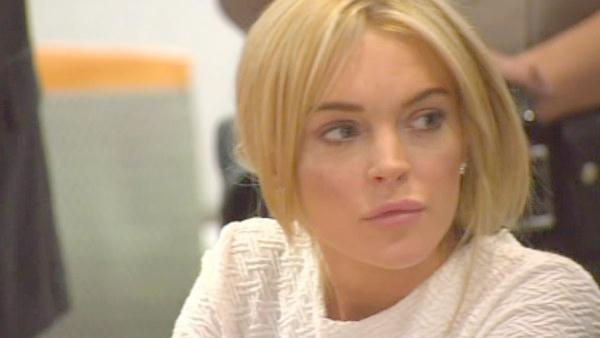 Lindsay Lohan is appears at a Los Angeles courthouse Wednesday, Feb. 9, 2011.