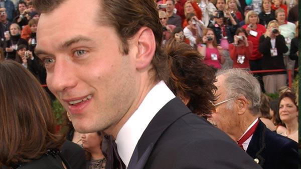 Jude Law in a photo from the Academy Awards ceremony on February 29, 2004. - Provided courtesy of A.M.P.A.S.