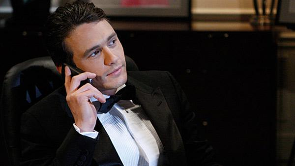 James Franco appears in a scene from General Hospital in a February 2011 episode. - Provided courtesy of ABC