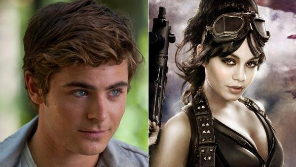 Zac Efron in a still from his 2010 film, Charlie St. Cloud./Vanessa Hudgens in a promotional photo for her 2011 film, Sucker Punch. - Provided courtesy of Universal Pictures/Warner Bros. Pictures