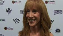 Kathy Griffin speaks to OnTheRedCarpet.com at an event honoring the hip hop group the Black Eyed Peas on Feb. 10, 2011. - Provided courtesy of OTRC