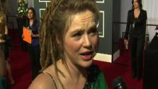 Crystal Bowersox speaks to OnTheRedCarpet.com at the 2011 Grammy Awards in Los Angeles on Feb. 13, 2011. - Provided courtesy of OTRC