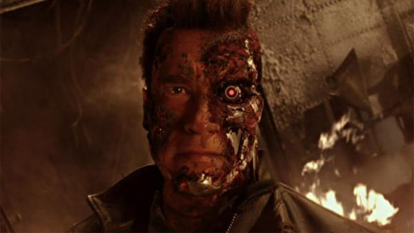 Arnold Schwarzenegger appears as the Terminator in the 2003 movie Terminator 3: Rise of the Machines. - Provided courtesy of Columbia TriStar Films / C-2 Pictures